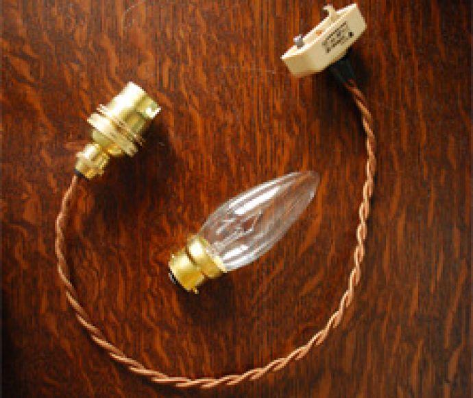 BR-DB ビーズランプ ダークレッドブラックのコードセット