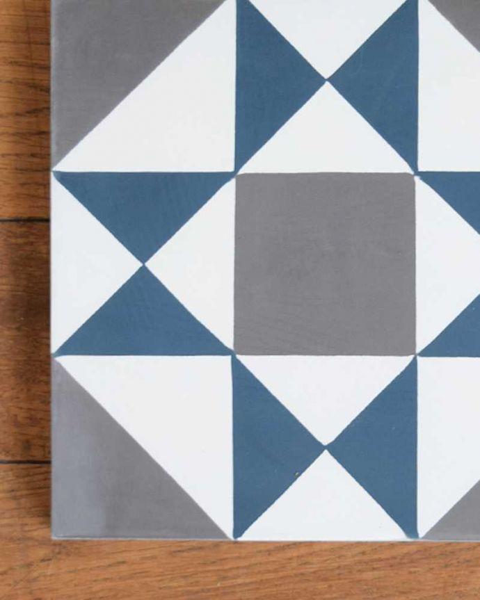 床材 お部屋づくりの材料(建材) デザインタイル(Carré)アンティーク風のおしゃれなダイヤ型デザイン。マットな質感表面はマットな仕上がりなので、屋内はもちろん、屋外でも使えます。(HOT-07)