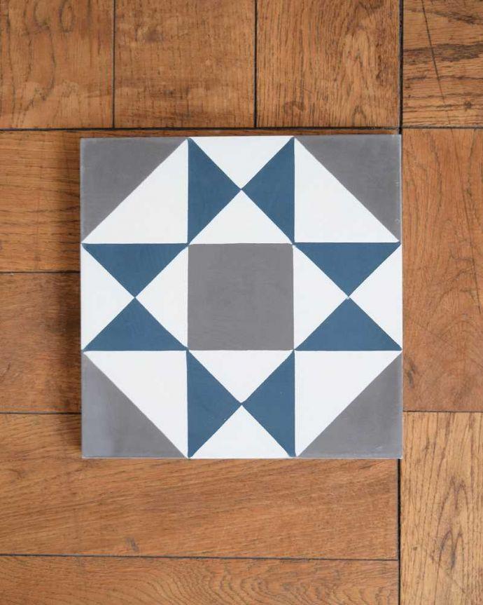 床材 お部屋づくりの材料(建材) デザインタイル(Carré)アンティーク風のおしゃれなダイヤ型デザイン。アンティーク風のおしゃれなタイルセメントに焼き付け塗装でクールな色を塗装したアンティーク風のタイル。(HOT-07)