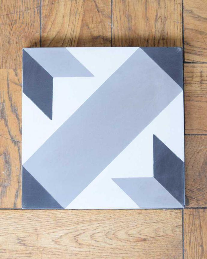 床材 お部屋づくりの材料(建材) デザインタイル(étoile)おしゃれなアンティーク風の星モチーフ。アンティーク風のおしゃれなタイルセメントに焼き付け塗装でクールな色を塗装したアンティーク風のタイル。(HOT-09)