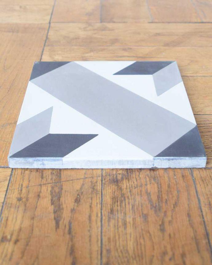 床材 お部屋づくりの材料(建材) デザインタイル(étoile)おしゃれなアンティーク風の星モチーフ。とっても丈夫厚みがあって丈夫なセメントタイル。(HOT-09)