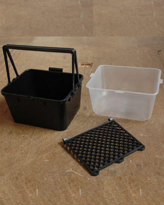 ペイント お部屋づくりの材料(建材) ハンドルオリジナルペイント用具セット。ペンキを入れる容器ですローラーバケット本体、ローラーバケットカバー、ローラーバケットネットです。(PS-01)