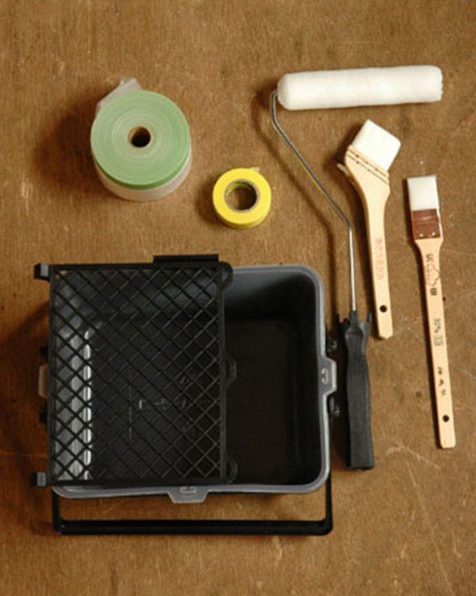 ペイント お部屋づくりの材料(建材) ハンドルオリジナルペイント用具セット。セットでお届けしますすぐにペイントを始められるキットをご用意しました。(PS-01)