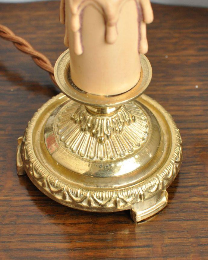 照明・ライティング Handleオリジナルのステンドグラス用スタンドライト(ゴールド色・S)(E17シャンデリア球付)。キラッと輝く高品質の真鍮製ヨーロッパから取り寄せる無垢の真鍮は質感が違います。(SGL-02)