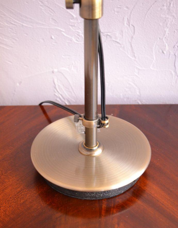 スタンドライト 照明・ライティング 布シェードからこぼれる柔らかな灯り、高さが調整できるテーブルランプ(プルスイッチ)(電球なし)。台座は厚み・重みがありますので、しっかりとした安定感があります。(TL-0031)