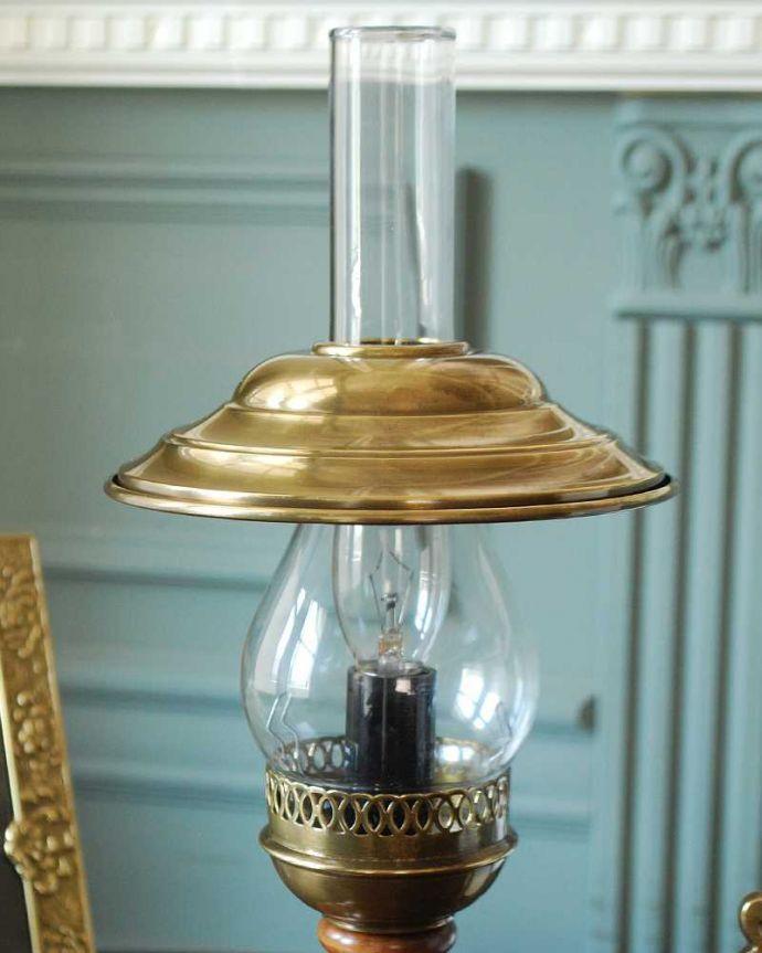 スタンドライト 照明・ライティング イタリアのアンティーク風テーブルランプ(1灯)(E17電球付)。。(TL-0063)