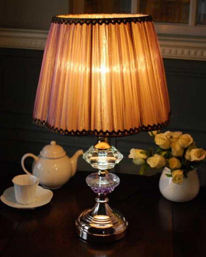 スタンドライト 照明・ライティング フランス風のおしゃれなテーブルランプ(バイオレット)。。(TL-0076)