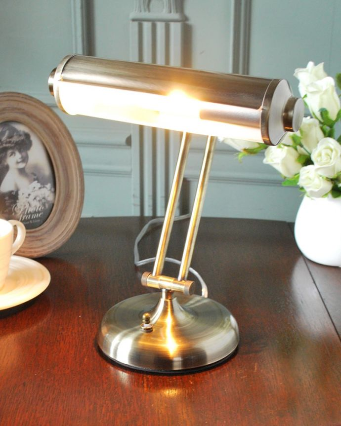 スタンドライト 照明・ライティング アンティーク調のピアノライト、スチール製のデスクライト (電球セット) 。(TL-0083)