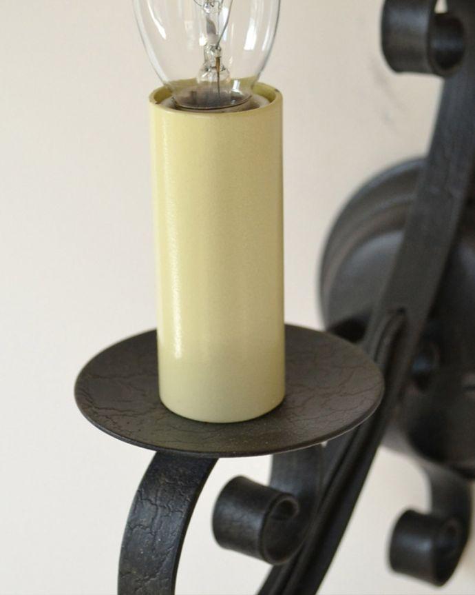 WR-032 アンティーク風オリジナル壁付けブラケット照明(ウォールブラケット)の蝋管