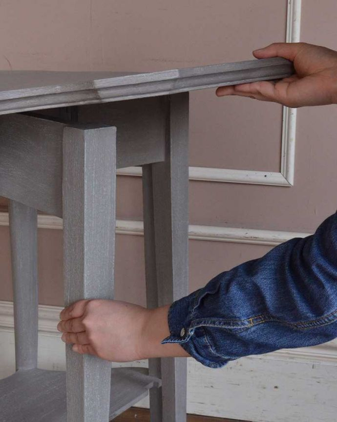 cff-1024  アンティークコンソールテーブルの天板組み立て手入り