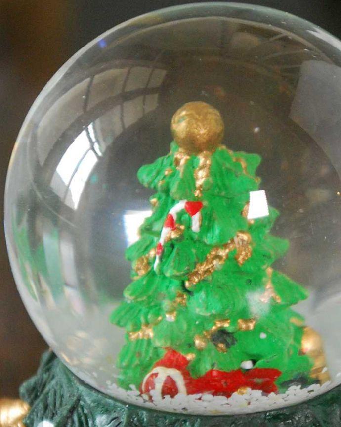 リビング雑貨 クリスマス用 クリスマス気分を盛り上げてくれる小さなスノードーム(ツリー)。クルっと回せば雪が降ります子どもから大人まで楽しめるスノードーム。(cm-158)