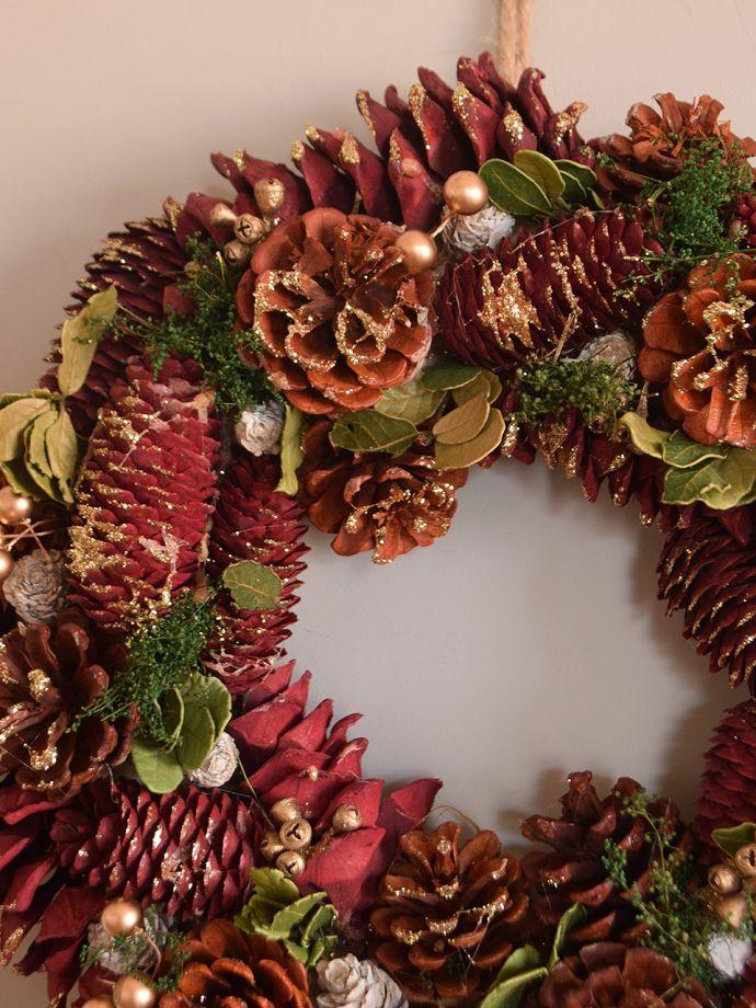 クリスマス用 クリスマスリース ナチュラルな素材のリース今年のクリスマスを盛り上げてくれるクリスマスリースはいかがでしょう?。(cm-190)