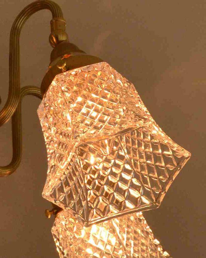 シャンデリア 照明・ライティング シーリングタイプのアンティーク風真鍮製シャンデリア(5灯・電球なし) 。LEDも使えます口金はE17型60W対応です。(cr-519-g)