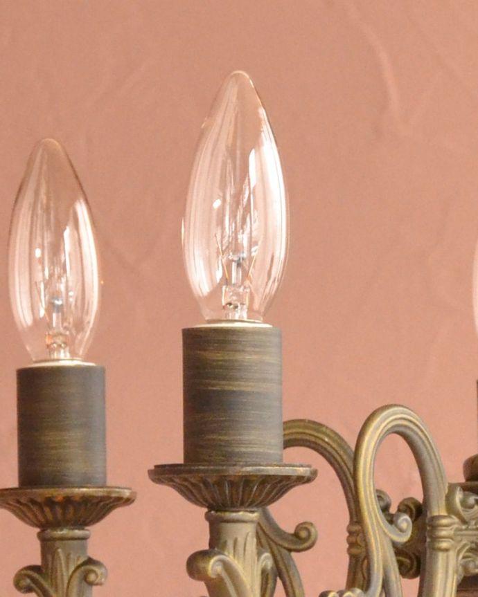 シャンデリア 照明・ライティング 5灯シャンデリア/BR LEDも使えます口金はE17型60W対応です。(cr-544)