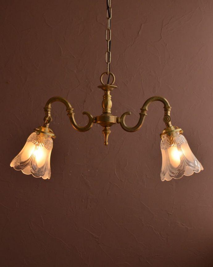 シャンデリア 照明・ライティング アンティーク風シャンデリア(2灯・電球なし) (cr-546-g)