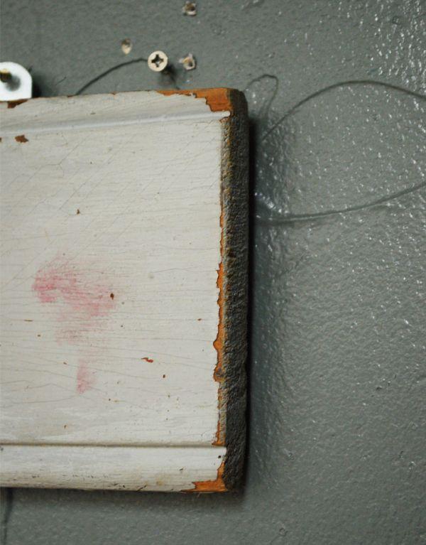 d-1004-f アンティークフックボード(ホワイト)の角