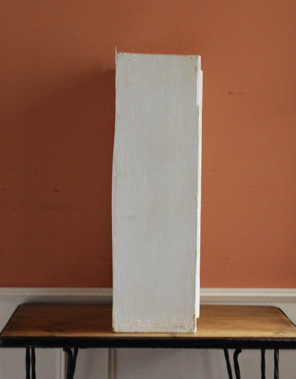 d-1077-f アンティークスモールキャビネット(ホワイト)の横