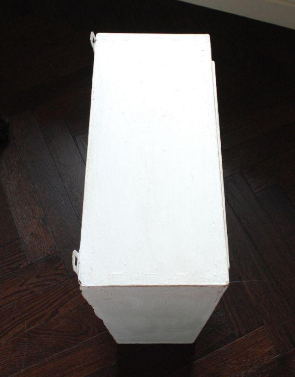 d-1077-f アンティークスモールキャビネット(ホワイト)の天板