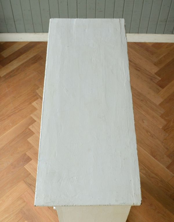 d-1123-f アンティークオープンシェルフ(ホワイト)の天板