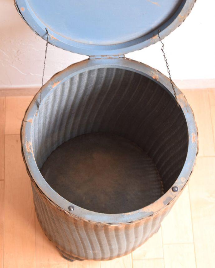 d-1155-f アンティークロイドルームボックス(ブルー)の箱内