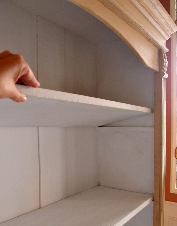 d-1164-f アンティークオープンシェルフ(クリーム)の棚板