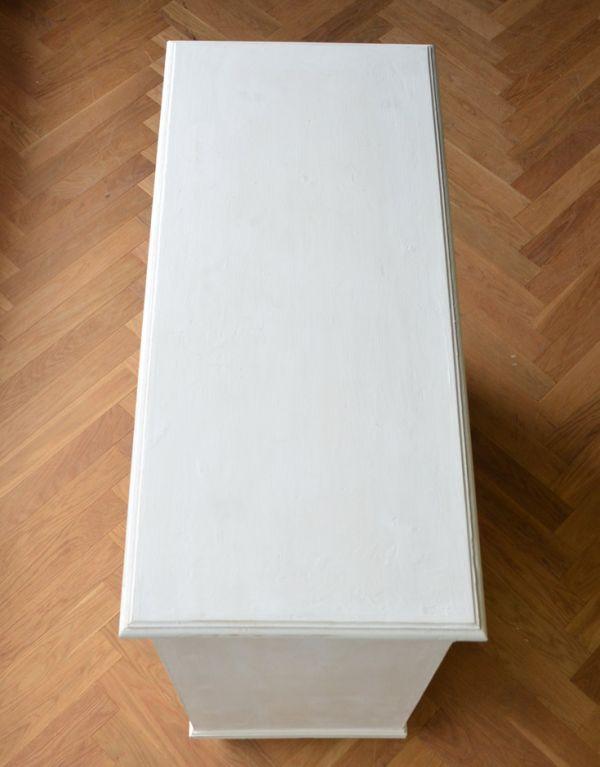 d-1167-f アンティークキャビネット(ホワイトペイント)の天板