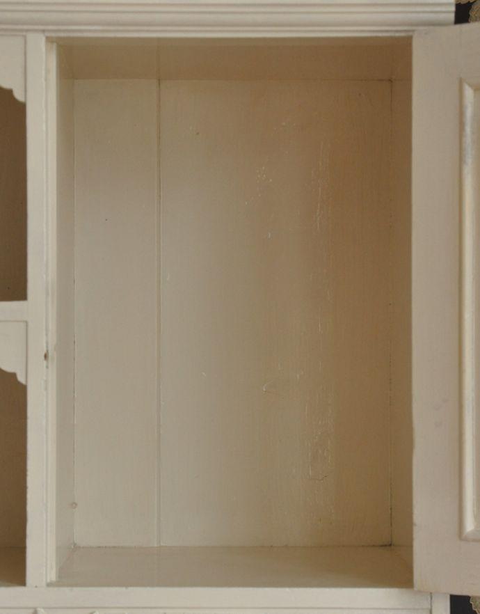 d-1189-f アンティークキャビネットの扉内