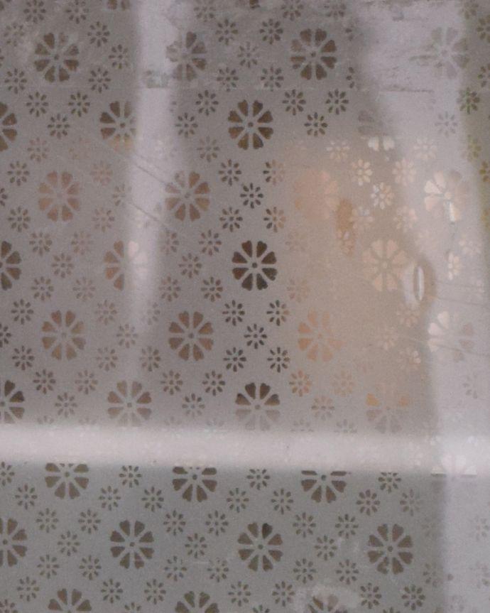 d-1216-f アンティークスモールキャビネットのガラス
