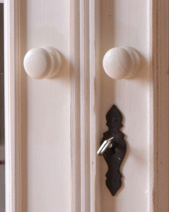 d-1241-f アンティークガラスキャビネットの取っ手&鍵