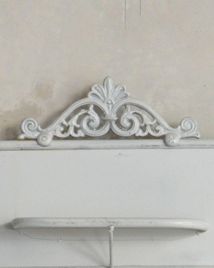 d-1251-f アンティークウォッシュスタンド(ホワイト)の装飾