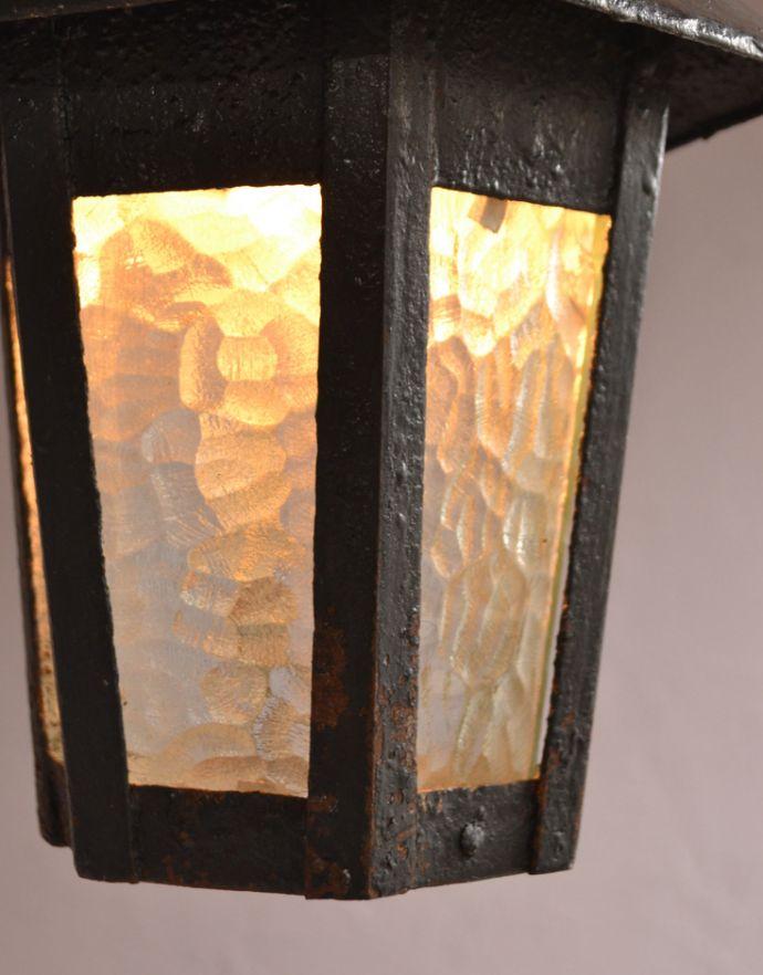 d-1286-z アンティークのペンダントライトの点灯アップ