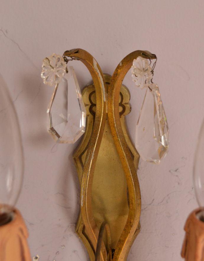 d-1292-z アンティークのウォールブラケットのガラスパーツ