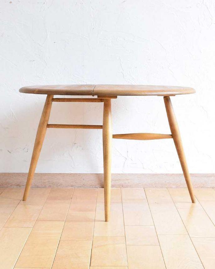 d-1321-f  アーコールテーブルの横(両開きの状態)