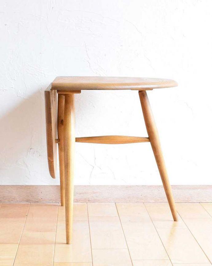 d-1321-fアーコールテーブルの横(片開きの状態)