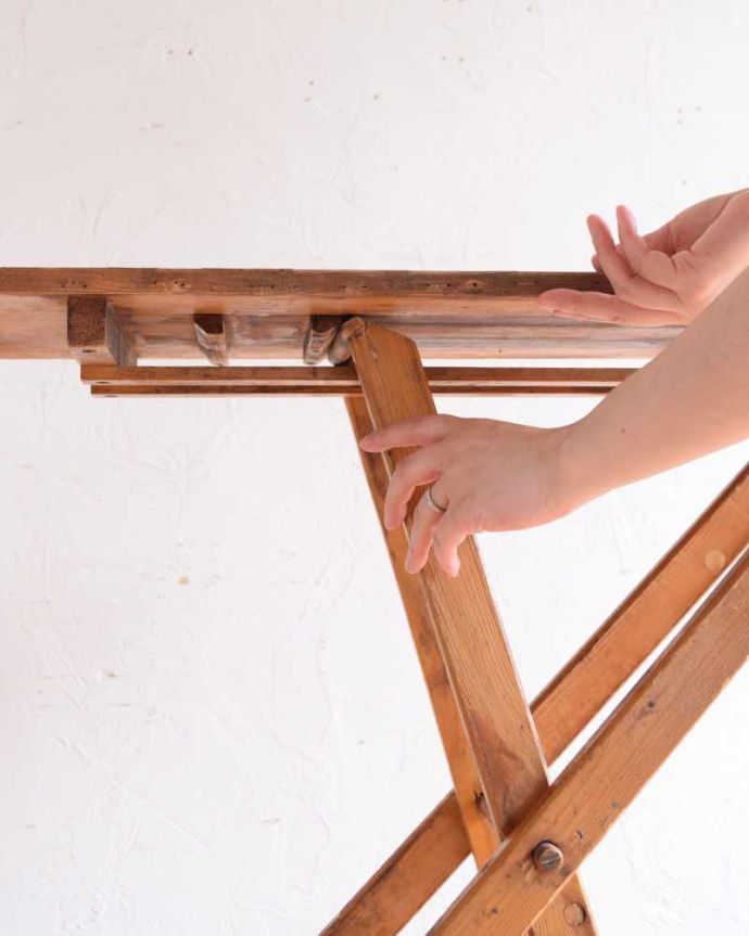 d-1326-f アンティークアイロンテーブルの開き方