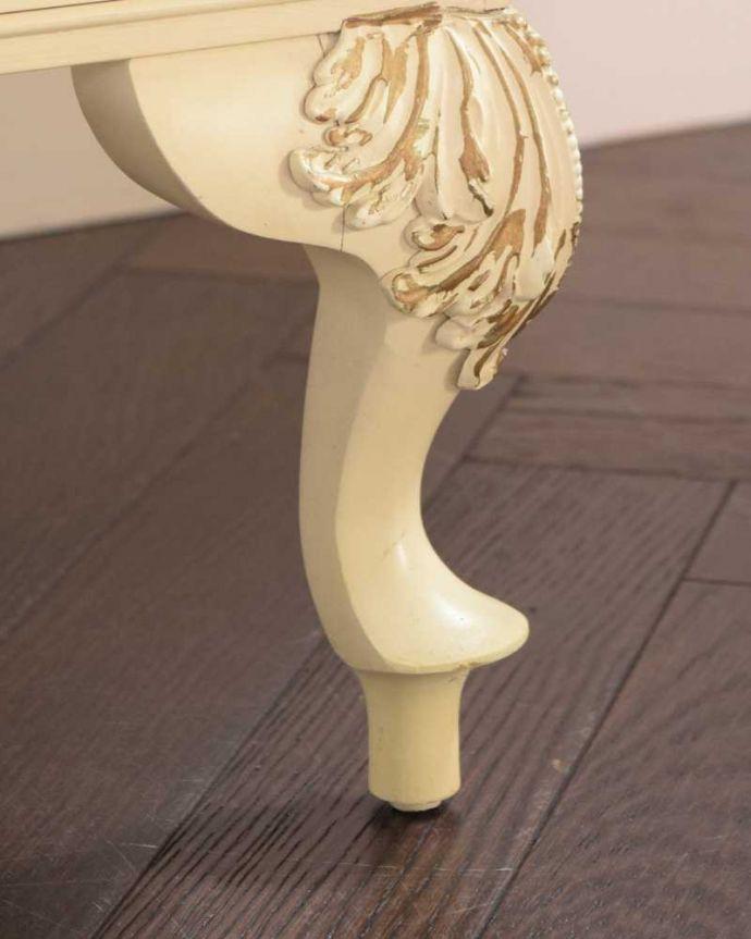 d-1334-f アンティークドレッシングテーブルの脚(普通の脚)