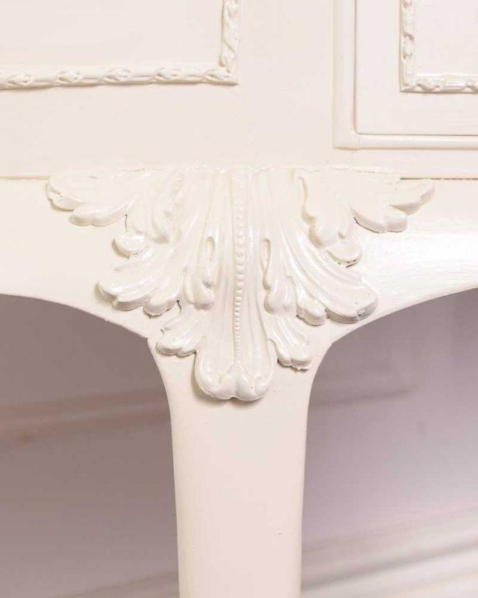 d-1349-f アンティークドレッシングテーブルの脚の彫り