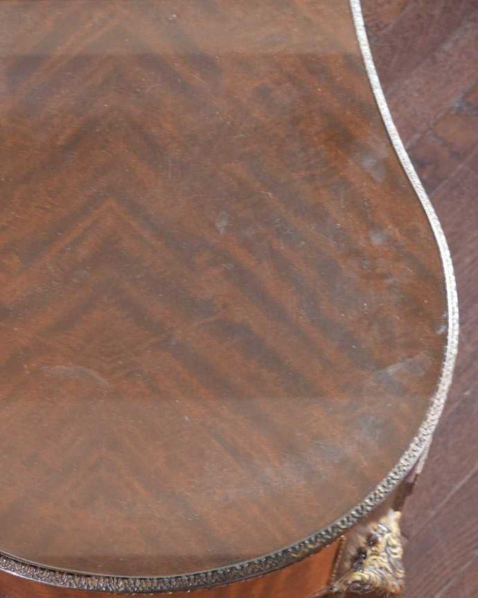 d-1357-f アンティークドレッシングテーブルの天板のズーム