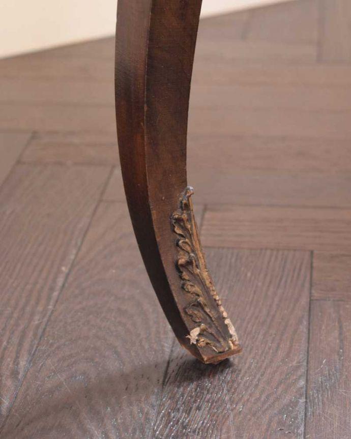 d-1357-f アンティークドレッシングテーブルの脚(普通の脚)