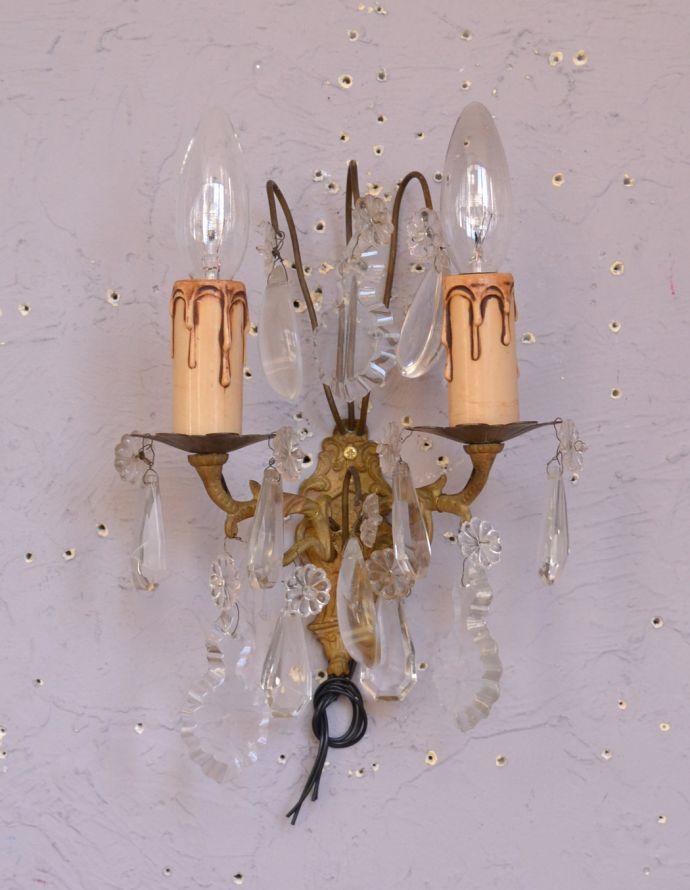 d-1393-z ガラスアクセサリ付きのウォールブラケット