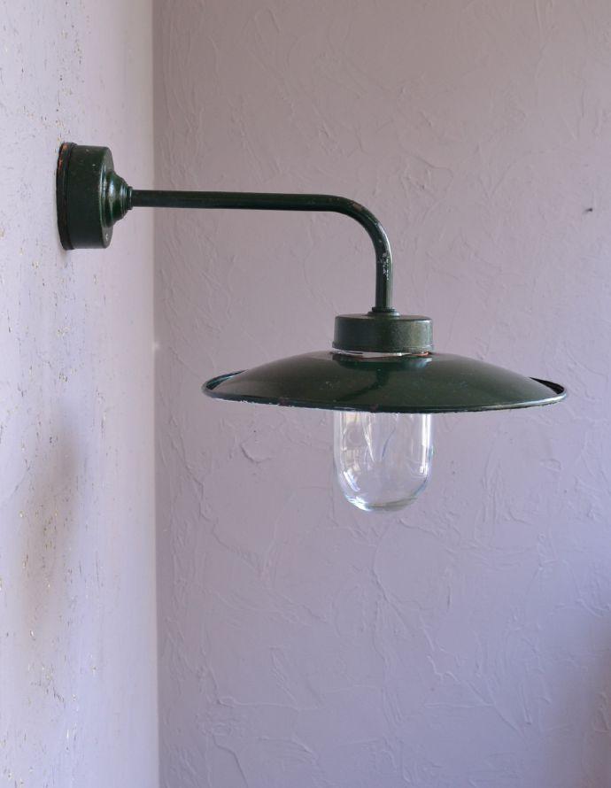 d-1427-z アンティークポーチライト・グリーン(外灯)のスタイリング