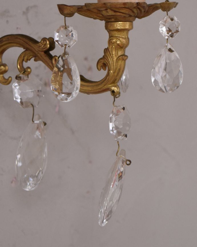 d-1447-z アンティークウォールブラケットのガラスパーツ