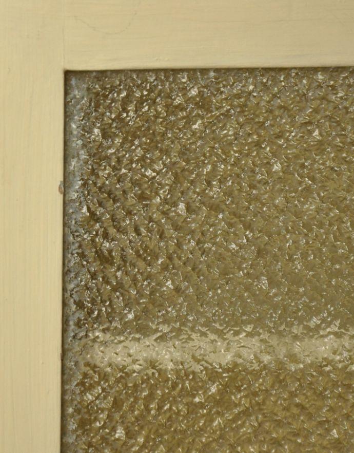 d-835-f-1 アンティークスモールキャビネット(ホワイト)のガラス
