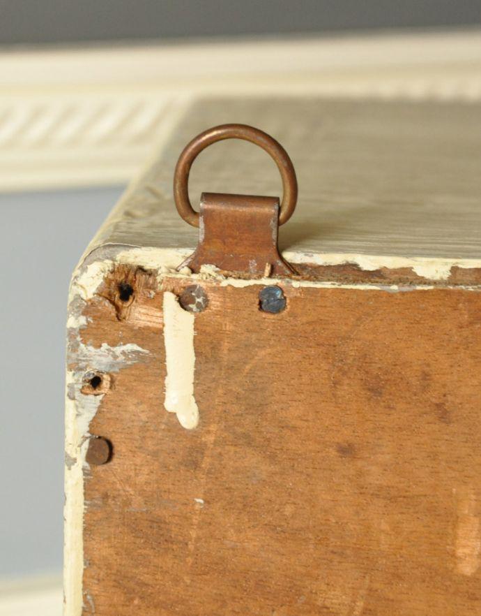 d-835-f-1 アンティークスモールキャビネット(ホワイト)の金具