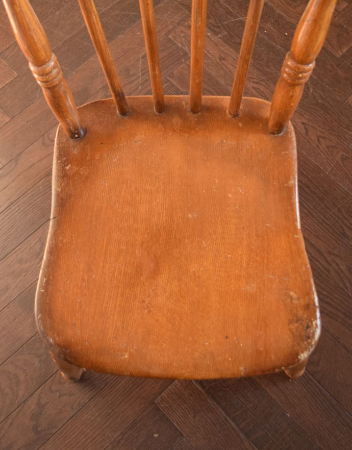d-879-c アンティークキッチンチェアの座面