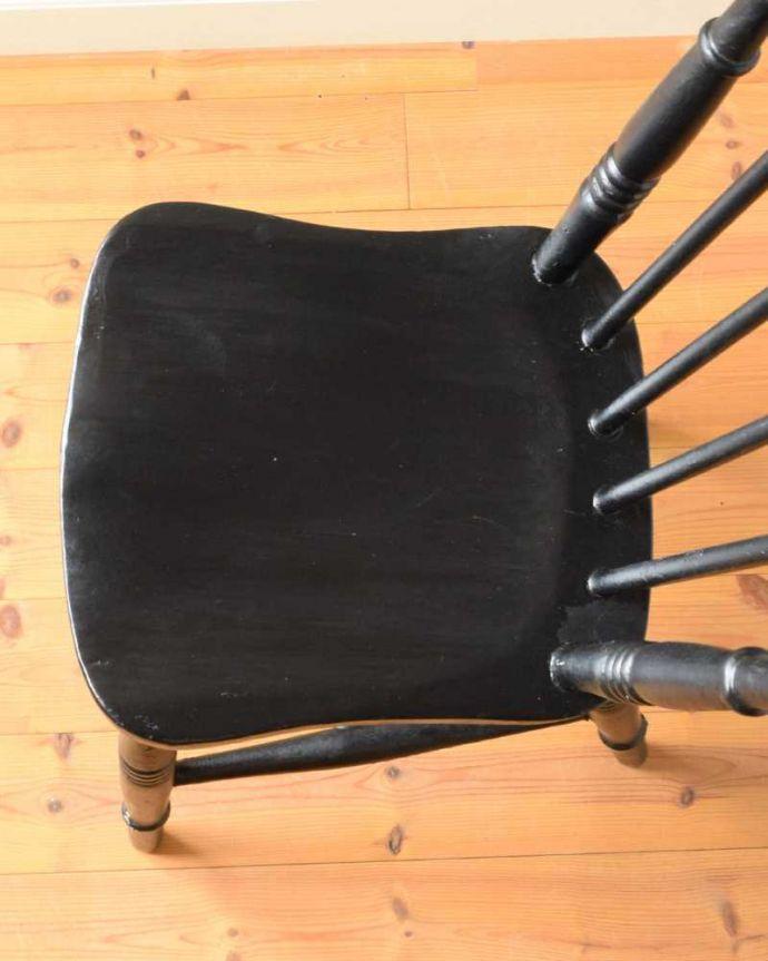 d-926-c アンティークキッチンチェアの座面