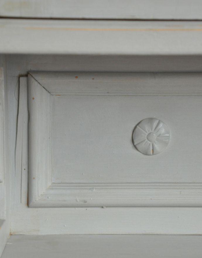d-1159-f アンティークカップボード(ホワイト)のオープンスペースの装飾