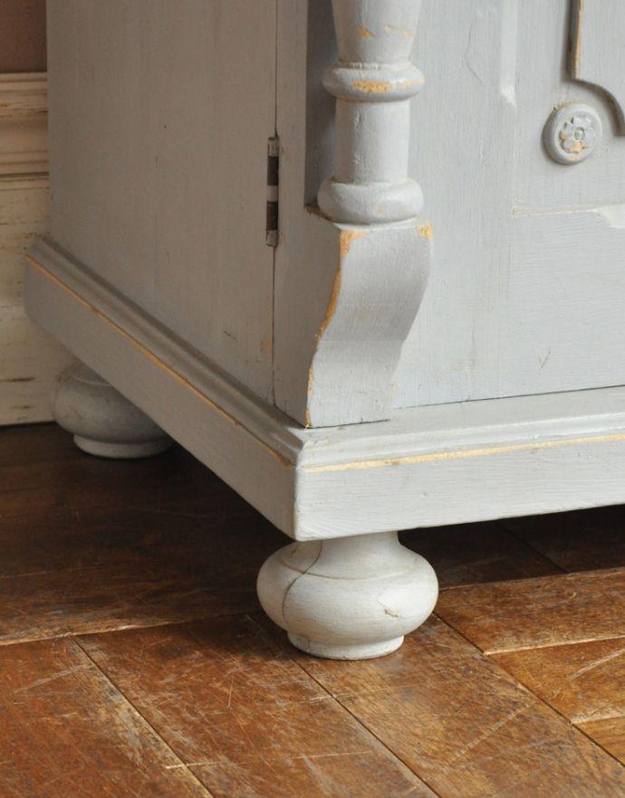d-982-f アンティークカップボードの脚