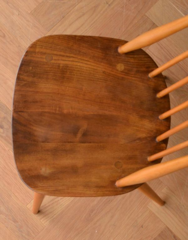 ear-1-a アンティークアーコールゴールドスミスチェア(アップルパイ色)の座面