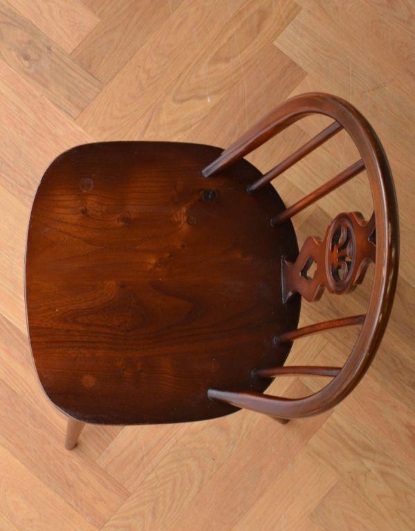 ear-18-p アンティークアーコール ホイールバックチェアの座面